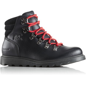 Sorel Youth Madson Hiker Waterproof Shoes Black/Black